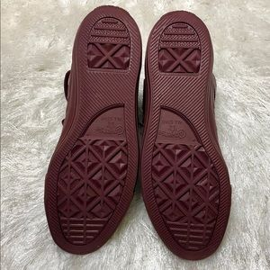 Converse Shoes - Converse 9 All Star Maroon Leather High Tops